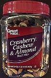Great Value Cashew, Cranberry & Almond Trail Mix 29 Oz