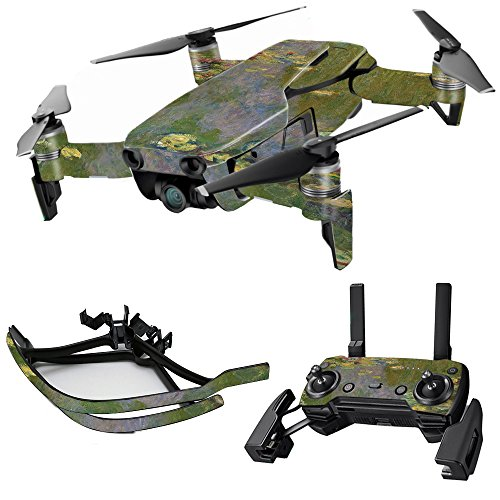 MightySkins Skin for DJI Max Coverage - Water Lilies | Protective, Durable, and Unique Vinyl Decal wrap Cover | Easy to Apply, Remove, and Change Styles | Made in The USA