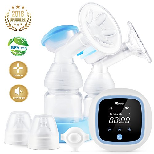Electric Breast Pump, Double/Single Milk Pump for Moms Massage Breast and Suck Milk, Breastfeeding Pump with Large LCD Screen,Hospital Grade