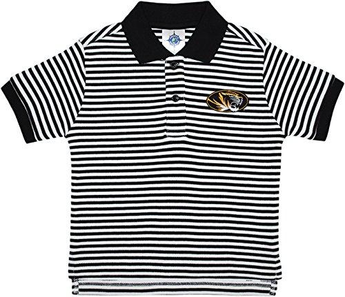 University of Missouri Tigers Striped Polo Shirt Black/White