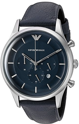 Emporio-Armani-Mens-Lambda-Quartz-Stainless-Steel-and-Leather-Casual-Watch-ColorBlue-Model-AR11018