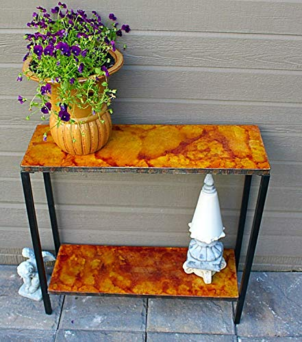 Pebble Lane Living 2 Tier Stained Concrete Outdoor Patio Console Buffet Sofa ()