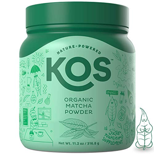 KOS Organic Matcha Powder | No Additives, 100% Pure Matcha Green Tea Powder | USDA Organic, High In Antioxidants, Clean Energy Promoting Plant Based Ingredient, 316.8g, 120 Servings
