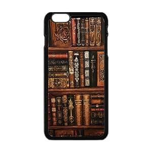 "Danny Store Hardshell Cell Phone Cover Case for New iPhone 6 Plus (5.5""), Vintage Bookshelf"