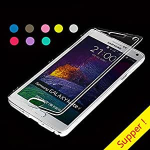 QJM 20150511 BIG D Touch View TPU Full Body Case for Samsung Galaxy Note 4 N9100(Assorted Colors) , Purple