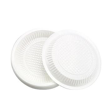 gordesc 10pcs/set desechable Plato Comida rápida de fiesta de plástico para tartas de frutas