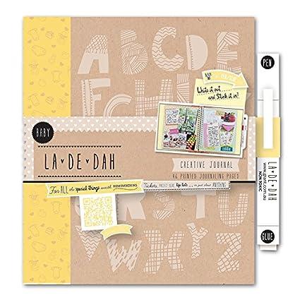La De Dah Baby - Agenda creativa (incluye bolígrafo), color amarillo.