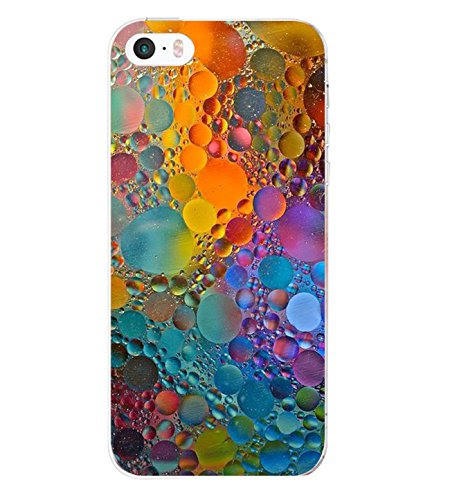 iPhone SE Case ,iPhone 5s Yimer Ultra-Slim Soft Gel TPU Silicone Clear Design Marble Shock-Absorption Protective Fit Cover (G)