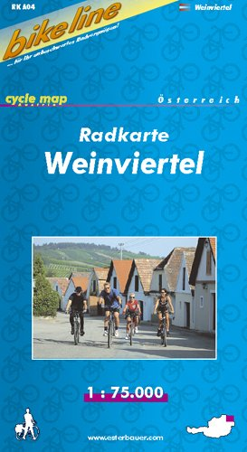 Bikeline Radkarte Weinviertel 1   75000. Österreich GPS Tauglich Mit UTM Netz