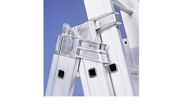 Disset Odiseo PDL0004 Escalera profesional, un tramo 3500 mm 12 peldaños de aluminio, perfil 67x27 mm. Para su uso apoyada en pared. Peldaños antideslizantes de 480 mm anchura y 280 mm profundidad