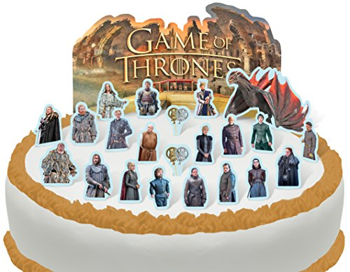 Cakeshop PRE-CUT Game of Thrones Edible Cake Scene - 23 pieces -