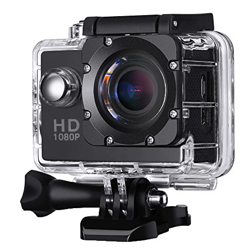 Action Kamera Wasserdicht, VicTsing 2,0 Zoll HD 1080P Sport Action Camera Cam 170 ° Weitwinkel NT96550 + AR0330 Black Box Dashboard Cockpitkamera mit Zubehör Kits für Fahrrad Motorrad Tauchen Schwimmen usw.