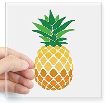 Cafepress pineapple sticker square bumper sticker car decal 3x3