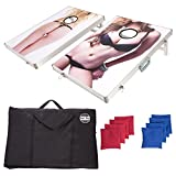 CAN'T STOP PARTY SUPPLIES Cornhole Board Game Set with 2 Boards and 8 Beanbags - Ladies