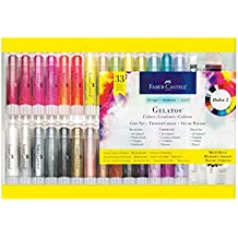 Faber Castell Gelatos Dolce II Gift Set - 28 Colors - Multi-Purpose Art Medium Set