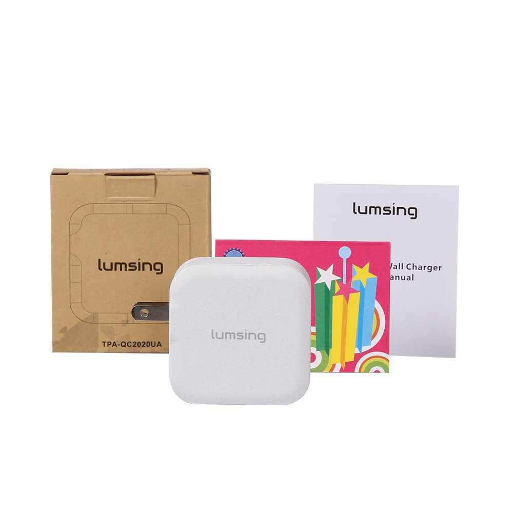 Lumsing Quick Charge 2 Port Wall Charger, 20W QC2.0 Dual USB Port Travel Charger for iPhone,Samsung Galaxy S5 S6 Edge Note 4 5, Google Nexus 6, Sony Xperia Z3 Z4 Tablet-Grey by Lumsing (Image #7)