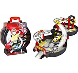 2 Stories Foldable parking play set with cars and helicopter Wheel garage Toy for boys