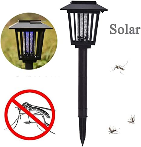 Lámpara para Matar Mosquitos con luz Solar, lámpara de jardín LED Parásito eléctrico Mosca Avispa Mosquito Asesino, eliminador de Moscas no tóxico, Inodoro y sin Ruido para el Dormitorio de la Sala: