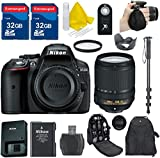 Nikon D5300 DSLR Camera Body + 18-140mm VR + 2 32GB Extemespeed Memory Cards + HD UV Filter + Accessory Bundle - International Version