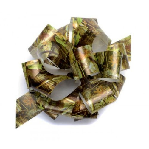 (Camo Bow (poly ribbon pull bow, 8