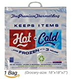 Hot Cold Bag | Insulated Thermal Cooler, Grocery Size