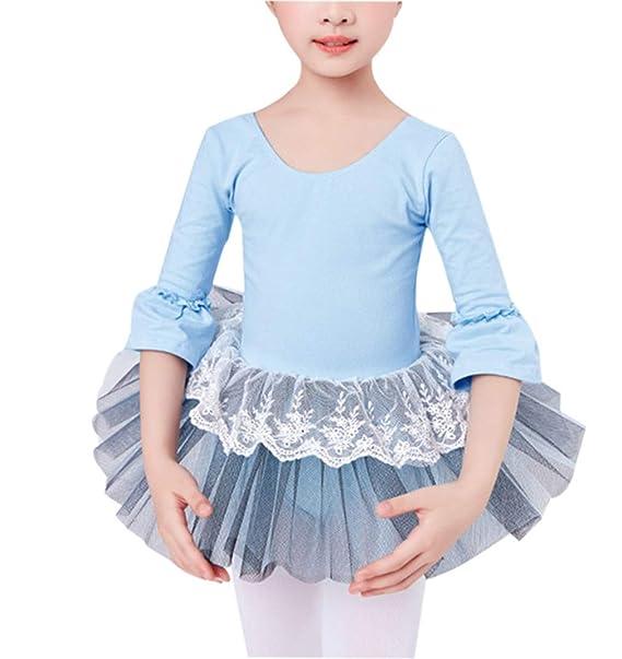 Bailarina Gimnasia Leotardo Falda de Ballet Tutu Chicas Pequeño Princesa Vestido Ropa de Baile Romántico Lago de Los Cisnes Cordón Traje Disfraz ...