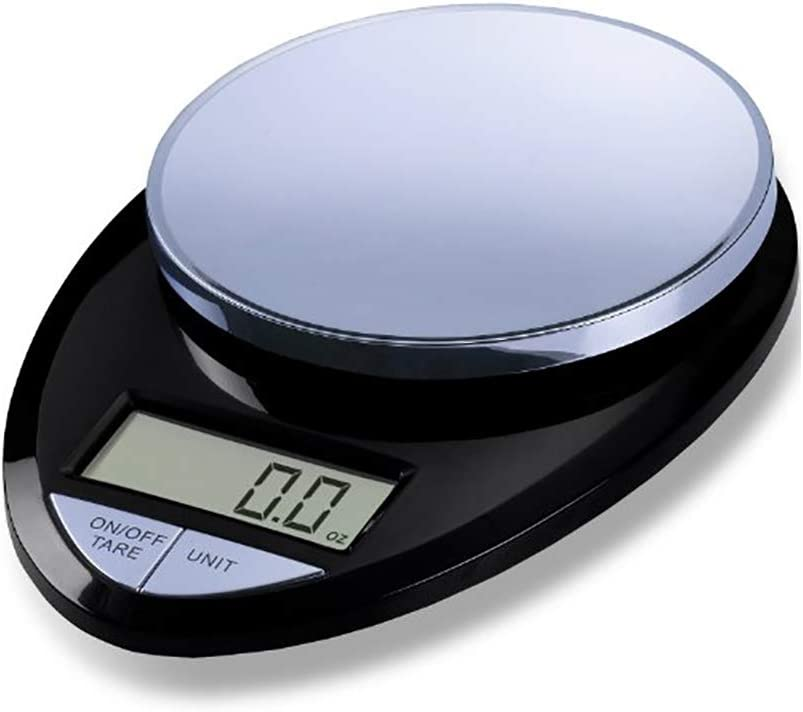 EatSmart Precision Pro Digital Kitchen Scale, Black Chrome