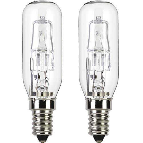 2 x 240v 30w = 40w ECO Halogen lamp for use within a AEG cooker hood / chimney. 240v. SES (E14) Small Edison Screw. Energy saving light bulb (Aeg Cooker Hoods)
