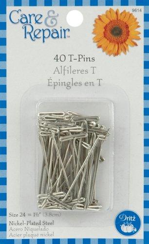 Bulk Buy: Dritz T pins size 24 40/Pkg 9614D (6-pack) Prym Consumer USA Inc.