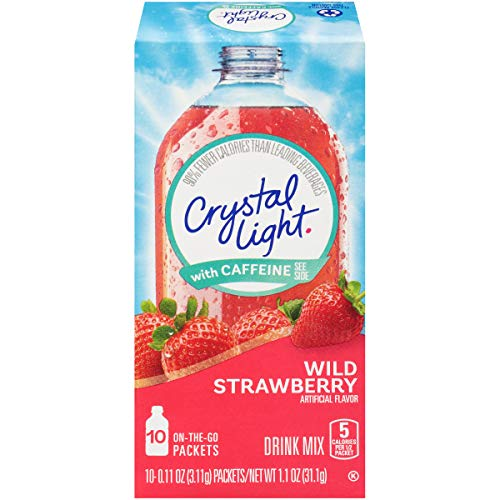 Crystal Light On-The-Go Sugar-Free Wild Strawberry with Caffeine, 0.11 oz ()