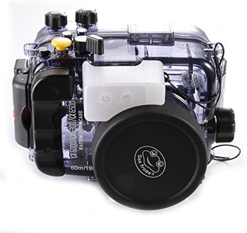 wenichen 60 m/195ft impermeable carcasa submarina buceo Vivienda para Sony A6000 A6300 A6500 Cámara: Amazon.es: Electrónica