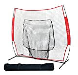 Big Red TGN Baseball/Softball Practice Net with Ball Caddy, 7 x 7 Feet (Red)