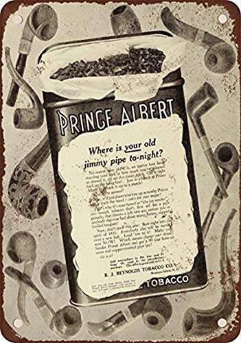 (Prince Albert Pipe Tobacco Tin Sign House Decor Food Drink Bar 20 cm x 30 cm)