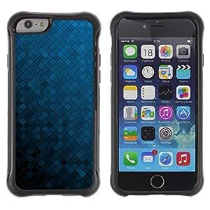 Suave TPU GEL Carcasa Funda Silicona Blando Estuche Caso de protección (para) Apple Iphone 6 PLUS 5.5 / CECELL Phone case / / Texture Blue Cubes /