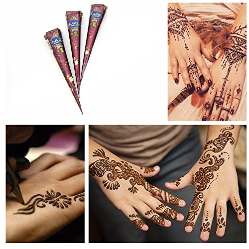 Jual Brown Indian Temporary Tattoo Paste Tattoo Cone Body Art