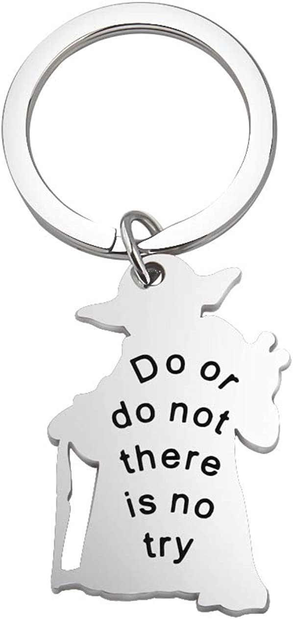 KUIYAI Do or Do Not There is No Try Keychain Star Wars Master Jedi Gifts