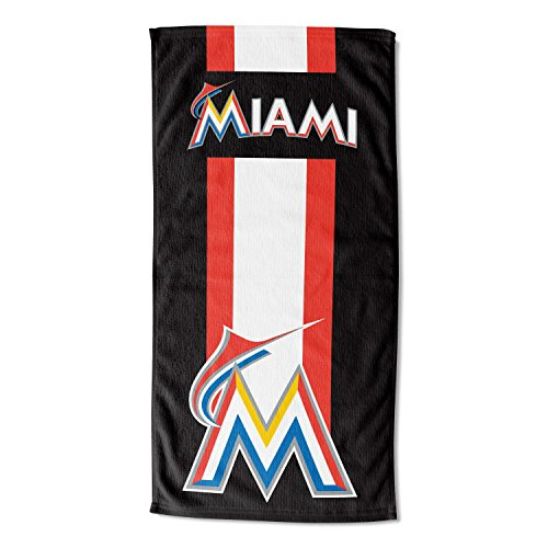 Officially Licensed MLB Miami Marlins Zone Read Beach Towel, 30