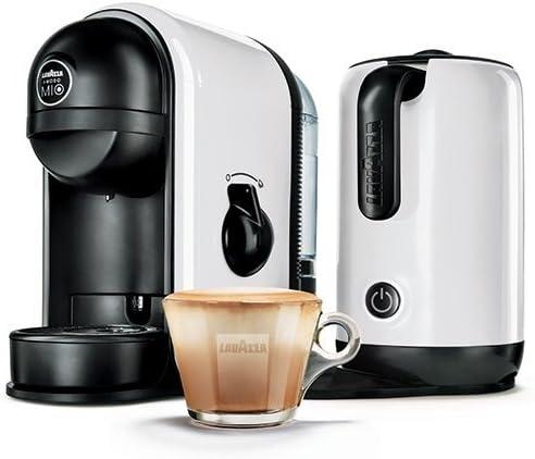Lavazza Minu blanco Caffe Latte cafetera con espumador de leche ...