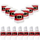 SPIRITUP Christmas Napkin Rings Cute Santa Belts