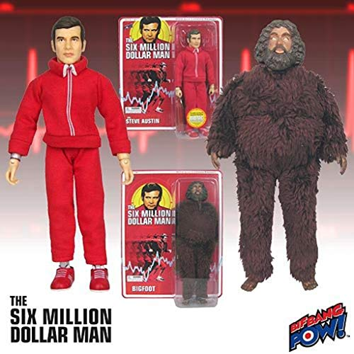 Six Million Dollar Man Steve Austin & Bigfoot Action Figures