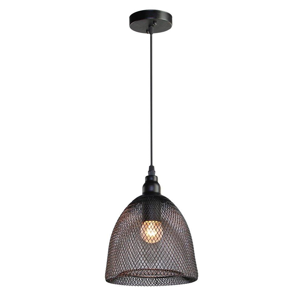 LNC Wire Mesh Ceiling Light Pendant Lighting Use E26 Bulb Pendant ...