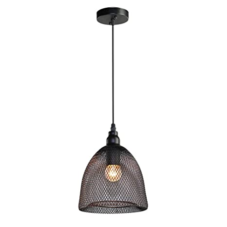 LNC Wire Mesh Ceiling Light Pendant Lighting Use E Bulb Pendant - Kitchen pendant lighting amazon
