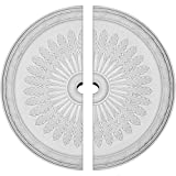 Ekena Millwork CM36JU2-03000 36''OD x 3''ID x 1 1/2''P Juniper Ceiling Medallion, Fits Canopies up to 7'', 2 Piece