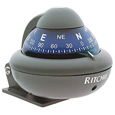 X10m Marine Sport Compass - Grey - Bracket Mount for Power Boat - Ritchie X-10m