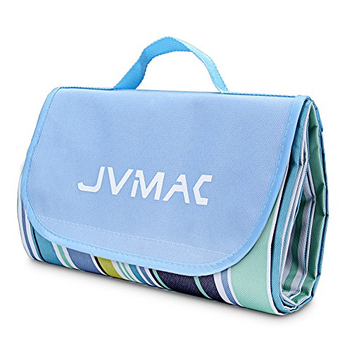 Check Out This JVMAC Picnic Mat, 59''x79'' Striped Handy Mat with Strap Mildew Resistant and Waterpr...