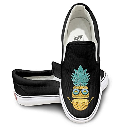 SH-rong Pineapple With Sunglasses Unisex Canvas Sneakers Shoes Size 37 - Taylor Swift Sunglasses 1989