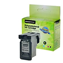 GREENCYCLE 1 Pack PG240XL Black High Yield Remanufactured Ink Cartridge with new chip Compible with Canon PG-240XL 240XL use in Canon For Canon PIXMA MG2120 MG2220 MG3120 MG3122 MG3200 MG3220 MG3222 MG3500 MG3520 MG3620 MG4120 MG4220 MX372 MX392 MX430, MX432 MX439 MX450 MX452 MX459 MX472 MX512 MX520 MX522 MX532 Show Ink Level