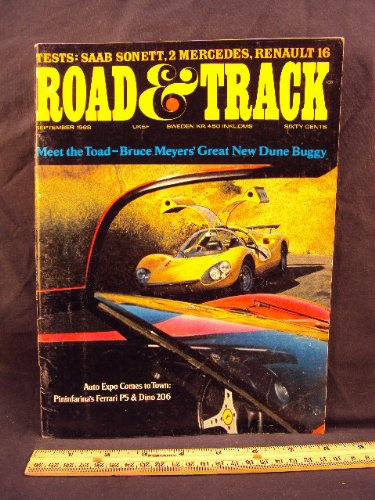 1968 68 September ROAD and TRACK Magazine, Volume 20 for sale  Delivered anywhere in USA