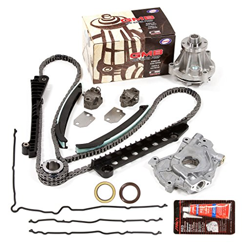 Evergreen TKTCS6054EWOP Fits 97-01 Ford Lincoln 5.4 SOHC 16V VIN L Timing Chain Kit Oil Pump GMB Water Pump Timing Cover Gasket