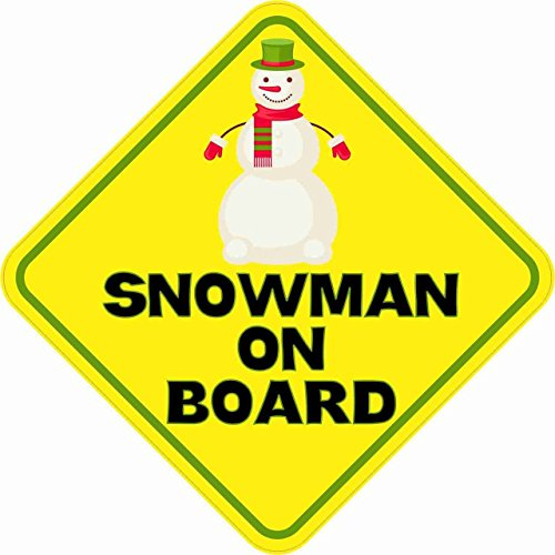 StickerTalk 5in x 5in Snowman On Board Magnet Car Truck Vehicle Magnetic Sign